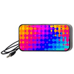 Totally Trippy Hippy Rainbow Portable Speaker (black)
