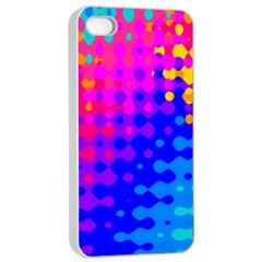 Totally Trippy Hippy Rainbow Apple iPhone 4/4s Seamless Case (White)