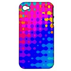 Totally Trippy Hippy Rainbow Apple Iphone 4/4s Hardshell Case (pc+silicone)
