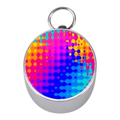 Totally Trippy Hippy Rainbow Mini Silver Compasses