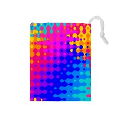 Totally Trippy Hippy Rainbow Drawstring Pouches (medium)