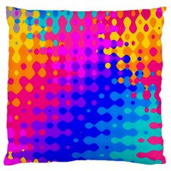 Totally Trippy Hippy Rainbow Large Flano Cushion Cases (one Side)