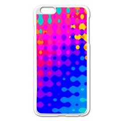 Totally Trippy Hippy Rainbow Apple iPhone 6 Plus Enamel White Case