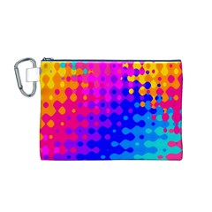 Totally Trippy Hippy Rainbow Canvas Cosmetic Bag (m)