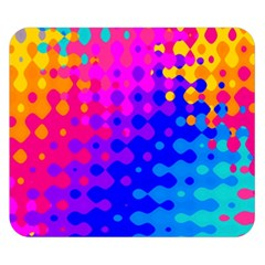 Totally Trippy Hippy Rainbow Double Sided Flano Blanket (Small)