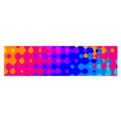 Totally Trippy Hippy Rainbow Satin Scarf (Oblong)