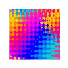 Totally Trippy Hippy Rainbow Small Satin Scarf (Square)