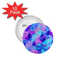 Blue And Purple Marble Waves 1 75  Buttons (10 Pack)