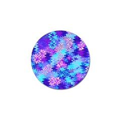 Blue and Purple Marble Waves Golf Ball Marker (4 pack)
