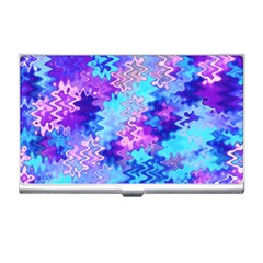 Blue and Purple Marble Waves Business Card Holders