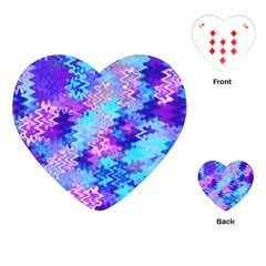 Blue And Purple Marble Waves Playing Cards (heart)