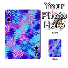 Blue and Purple Marble Waves Playing Cards 54 Designs