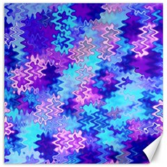 Blue and Purple Marble Waves Canvas 20  x 20