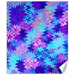 Blue and Purple Marble Waves Canvas 20  x 24