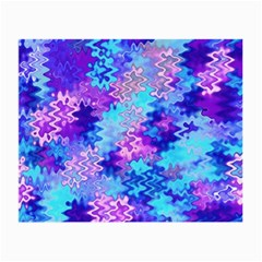 Blue And Purple Marble Waves Small Glasses Cloth (2 Side)