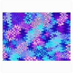 Blue And Purple Marble Waves Large Glasses Cloth