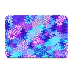 Blue and Purple Marble Waves Plate Mats