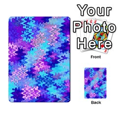 Blue and Purple Marble Waves Multi-purpose Cards (Rectangle)