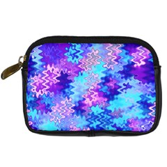 Blue and Purple Marble Waves Digital Camera Cases