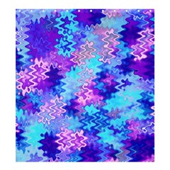 Blue and Purple Marble Waves Shower Curtain 66  x 72  (Large)