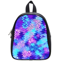 Blue and Purple Marble Waves School Bags (Small)