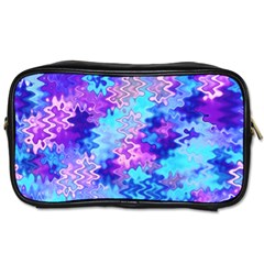 Blue And Purple Marble Waves Toiletries Bags