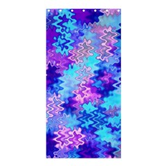 Blue and Purple Marble Waves Shower Curtain 36  x 72  (Stall)