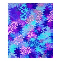 Blue and Purple Marble Waves Shower Curtain 60  x 72  (Medium)