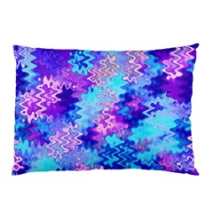 Blue And Purple Marble Waves Pillow Cases (two Sides)
