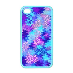 Blue And Purple Marble Waves Apple Iphone 4 Case (color)