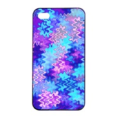 Blue and Purple Marble Waves Apple iPhone 4/4s Seamless Case (Black)