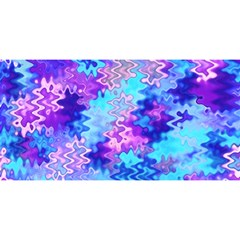 Blue And Purple Marble Waves You Are Invited 3d Greeting Card (8x4)