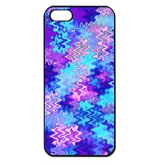 Blue And Purple Marble Waves Apple Iphone 5 Seamless Case (black)