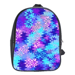Blue and Purple Marble Waves School Bags (XL)