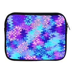 Blue and Purple Marble Waves Apple iPad 2/3/4 Zipper Cases