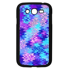 Blue and Purple Marble Waves Samsung Galaxy Grand DUOS I9082 Case (Black)