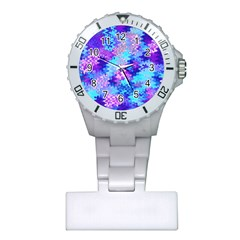 Blue And Purple Marble Waves Nurses Watches