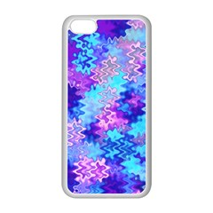 Blue and Purple Marble Waves Apple iPhone 5C Seamless Case (White)