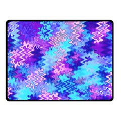 Blue And Purple Marble Waves Double Sided Fleece Blanket (small)