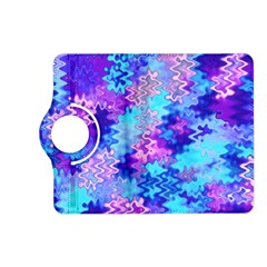 Blue and Purple Marble Waves Kindle Fire HD (2013) Flip 360 Case