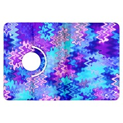 Blue and Purple Marble Waves Kindle Fire HDX Flip 360 Case