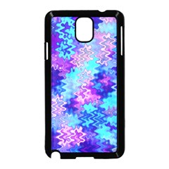 Blue and Purple Marble Waves Samsung Galaxy Note 3 Neo Hardshell Case (Black)