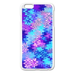Blue and Purple Marble Waves Apple iPhone 6 Plus Enamel White Case