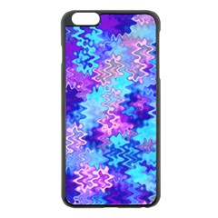 Blue And Purple Marble Waves Apple Iphone 6 Plus Black Enamel Case