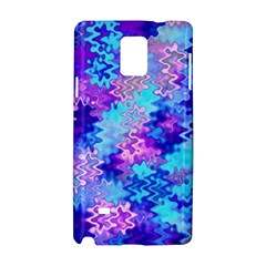Blue and Purple Marble Waves Samsung Galaxy Note 4 Hardshell Case