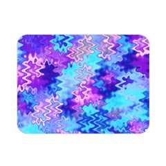 Blue And Purple Marble Waves Double Sided Flano Blanket (mini)