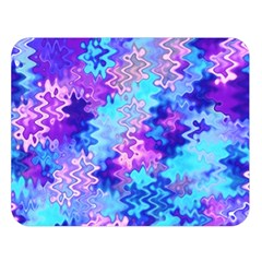Blue And Purple Marble Waves Double Sided Flano Blanket (large)