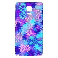Blue and Purple Marble Waves Galaxy Note 4 Back Case
