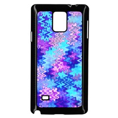 Blue and Purple Marble Waves Samsung Galaxy Note 4 Case (Black)