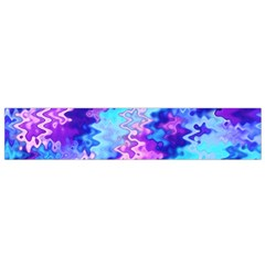 Blue and Purple Marble Waves Flano Scarf (Small)
